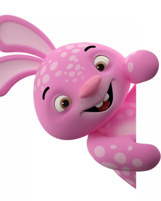 3D Pink Rabbit - Obrázkek zdarma pro Nokia C1-00