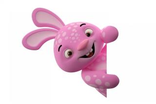 3D Pink Rabbit - Obrázkek zdarma pro 480x320