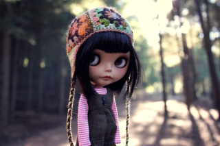 Doll Wearing Hat Background for Android, iPhone and iPad
