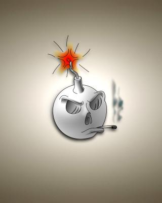Bomb with Wick - Obrázkek zdarma pro iPhone 4S