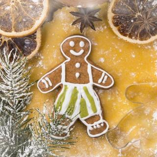 Xmas Gingerbread - Obrázkek zdarma pro iPad mini 2
