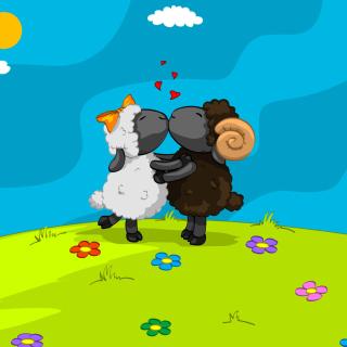 Cartoon Kisses - Obrázkek zdarma pro iPad