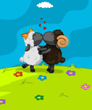 Cartoon Kisses - Obrázkek zdarma pro 360x480