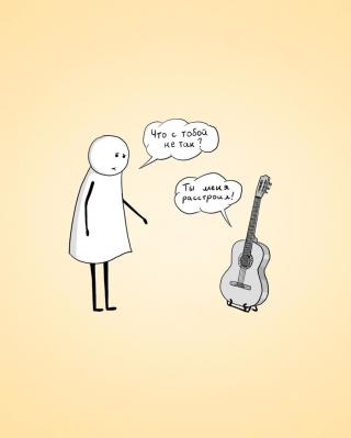 Man And Guitar Dialogue - Obrázkek zdarma pro iPhone 5C