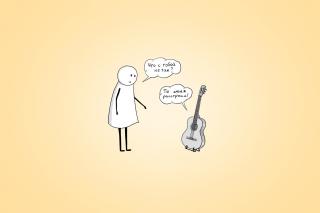 Man And Guitar Dialogue - Obrázkek zdarma pro HTC Desire