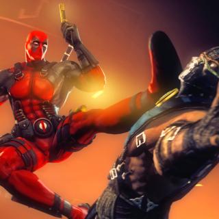 Deadpool Marvel Comics Hero - Obrázkek zdarma pro iPad Air