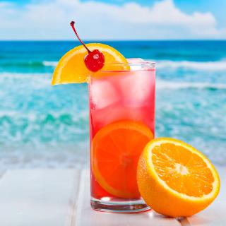 Refreshing tropical drink - Obrázkek zdarma pro iPad 2