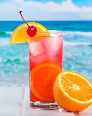 Refreshing tropical drink - Obrázkek zdarma pro Nokia Asha 300