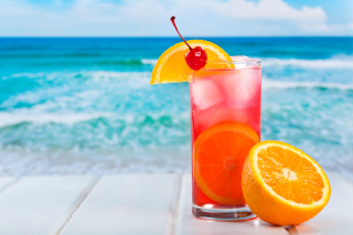 Refreshing tropical drink - Obrázkek zdarma pro Widescreen Desktop PC 1920x1080 Full HD