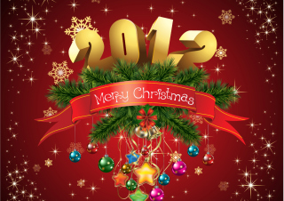 Free New Year And Merry Christmas Picture for Android, iPhone and iPad