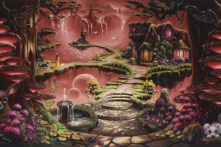Fantasy Land Art - Obrázkek zdarma pro 1024x768