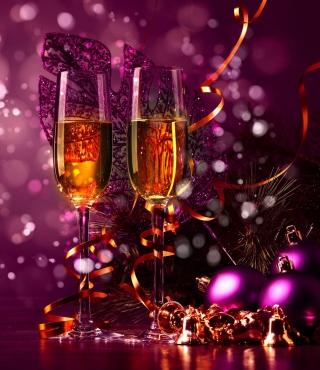 New Year's Champagne - Obrázkek zdarma pro Nokia Asha 303
