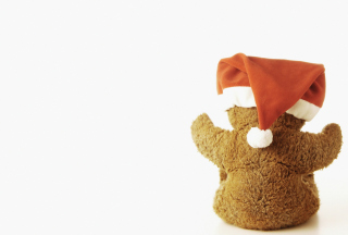 Christmas Plush Bear Wallpaper for Android, iPhone and iPad
