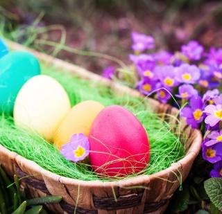 Colorful Easter Eggs - Obrázkek zdarma pro iPad 3