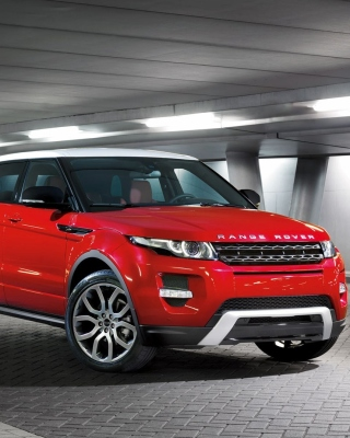 Land Rover Range Rover Evoque SUV Red Wallpaper for Samsung SGH-T528G