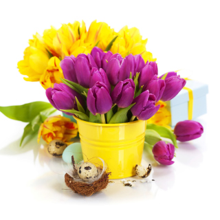 Spring Easter Flowers - Obrázkek zdarma pro 208x208