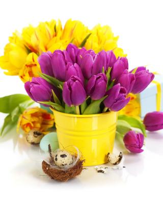 Spring Easter Flowers - Obrázkek zdarma pro Nokia Asha 203