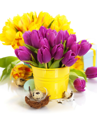 Spring Easter Flowers - Obrázkek zdarma pro iPhone 4S