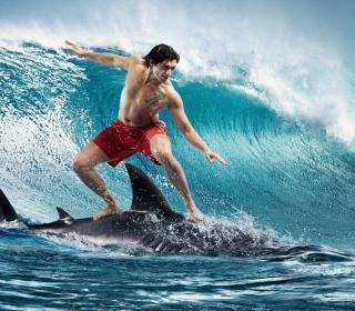 Shark Surfing - Obrázkek zdarma pro 128x128