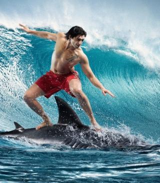 Shark Surfing - Obrázkek zdarma pro Nokia Lumia 822