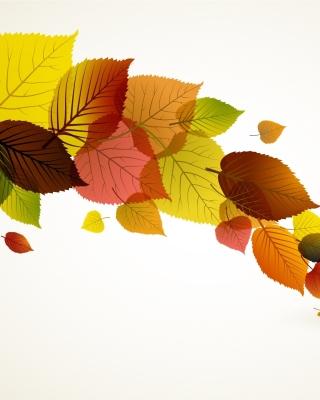 Drawn autumn leaves - Obrázkek zdarma pro iPhone 6