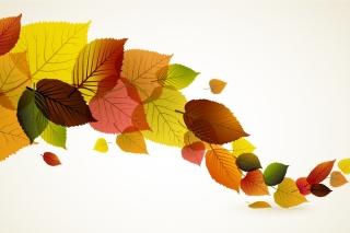 Drawn autumn leaves - Obrázkek zdarma pro 1400x1050