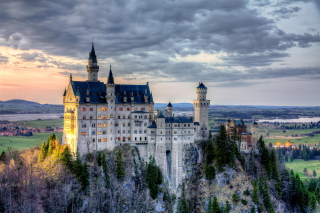 Neuschwanstein Castle, Bavaria, Germany Background for Android, iPhone and iPad