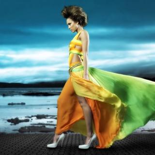Jessica Alba - Obrázkek zdarma pro iPad