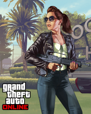 Grand Theft Auto V Girl - Obrázkek zdarma pro Nokia Asha 303