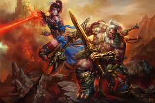 Barbarian - Diablo III Background for Android, iPhone and iPad