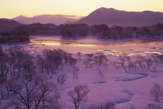Winter Landscape In Fukushima Japan Wallpaper for Android, iPhone and iPad