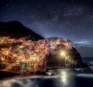 Night Italy Coast - Obrázkek zdarma pro 128x128