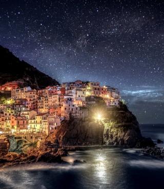 Night Italy Coast - Obrázkek zdarma pro Nokia 300 Asha