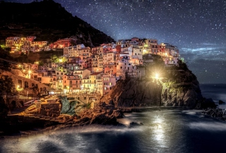 Night Italy Coast - Obrázkek zdarma pro Fullscreen Desktop 800x600