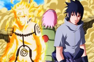 Uzumaki Naruto shippuden with Uchiha Sasuke - Fondos de pantalla gratis para Nokia Asha 201
