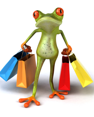 3D Frog Shopping - Obrázkek zdarma pro Nokia Asha 203