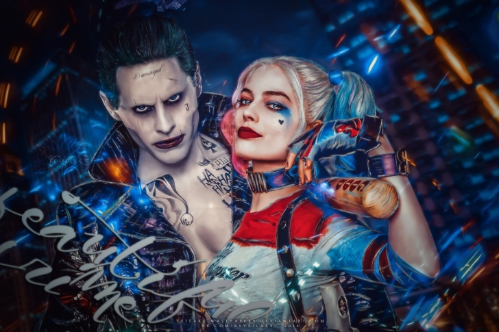 Margot Robbie in Suicide Squad film as Harley Quinn wallpaper