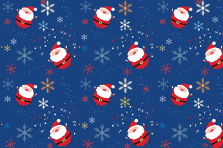 Free Santa Claus Pattern Picture for Android, iPhone and iPad