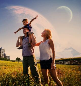 Happy Family - Obrázkek zdarma pro 128x128