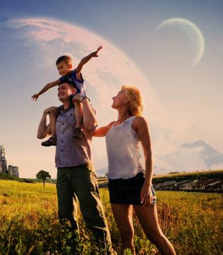Happy Family - Obrázkek zdarma pro 128x160