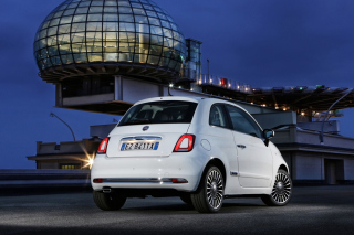 Free White Fiat 500 2016 Picture for Android, iPhone and iPad