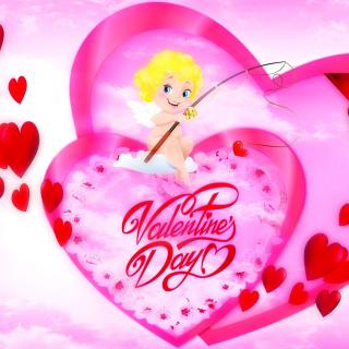Valentines Day Angel - Obrázkek zdarma pro iPad 2