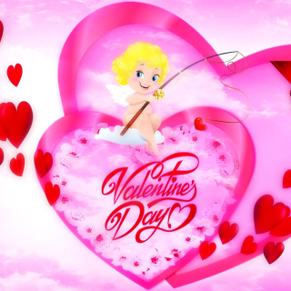 Valentines Day Angel - Obrázkek zdarma pro 208x208