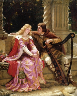 Edmund Leighton Romanticism English Painter - Obrázkek zdarma pro iPhone 3G