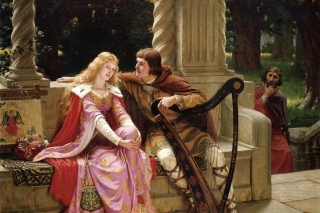 Edmund Leighton Romanticism English Painter - Obrázkek zdarma pro Samsung Galaxy Grand 2