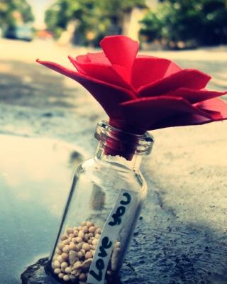 Love You Bottle - Obrázkek zdarma pro 768x1280