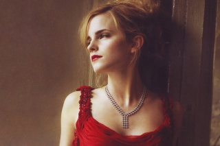 Free Emma Watson In Red Dress Picture for Android, iPhone and iPad