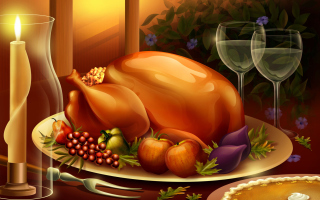 Thanksgiving Feast - Obrázkek zdarma pro 320x240