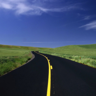 Road Landscape and Heaven - Obrázkek zdarma pro iPad 3