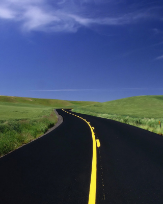 Road Landscape and Heaven - Fondos de pantalla gratis para LG T325 Cookie